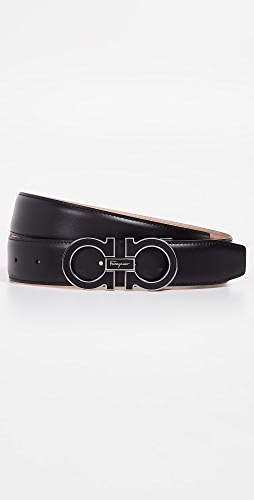 Salvatore Ferragamo - Encased Enamel Gancini Buckle Belt