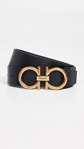 Salvatore Ferragamo Oversized Gancini Buckle Belt