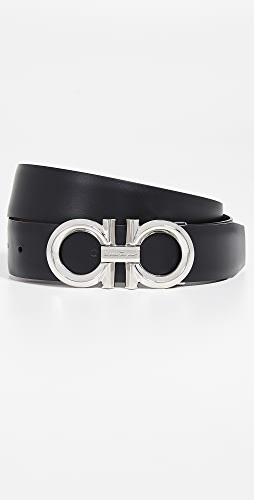 Salvatore Ferragamo - Beveled Gancini Buckle Reversible Belt