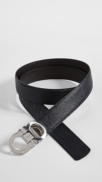 Salvatore Ferragamo Gancini Buckle Reversible Belt Box Set