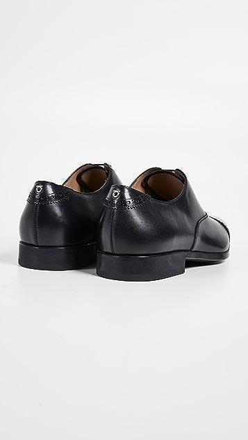Salvatore Ferragamo Boston Cap Toe Lace Up Shoes