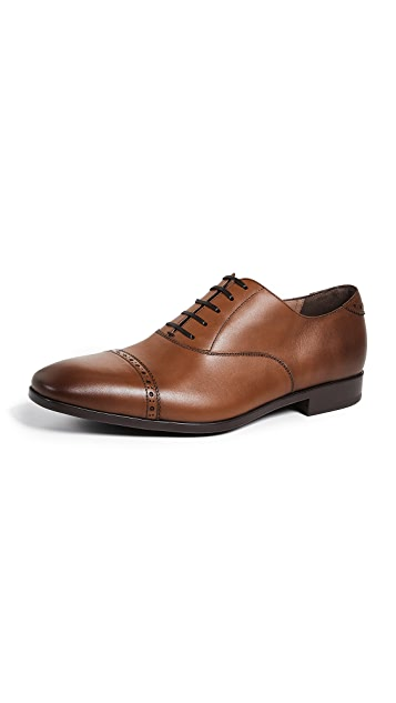 Salvatore Ferragamo Boston Cap Toe Lace Up Shoes