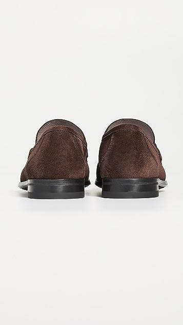 Salvatore Ferragamo Grandioso 2 Suede Bit Loafers