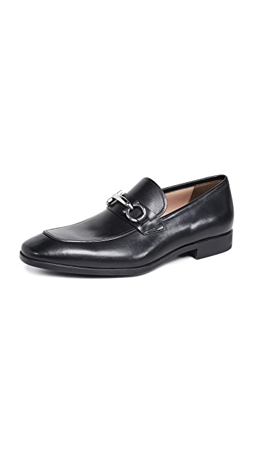 Salvatore Ferragamo Benford Black Bit Loafers