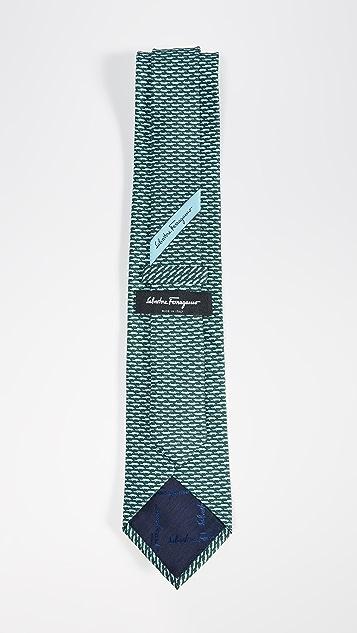Salvatore Ferragamo Alligator Print Classic Tie