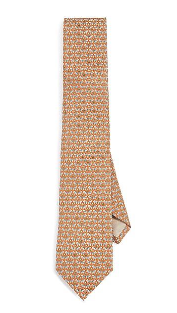 Salvatore Ferragamo Dog Print Classic Tie
