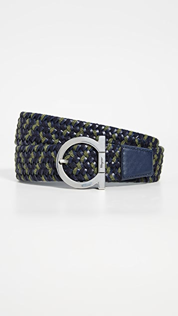 Salvatore Ferragamo Woven Stretch Belt