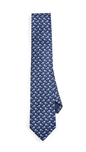 Salvatore Ferragamo Elephant and Mouse Printed Tie