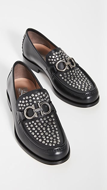Salvatore Ferragamo Rolo Studded Loafers