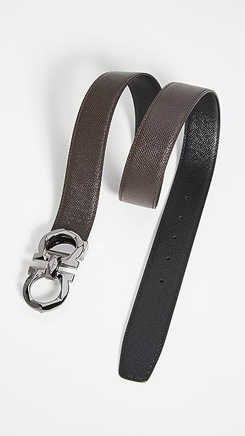 Salvatore Ferragamo Score Adjustable & Reversible Belt