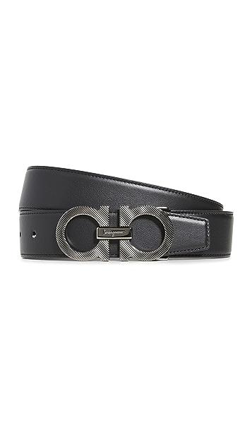 Salvatore Ferragamo Calfino Adjustable & Reversible Belt
