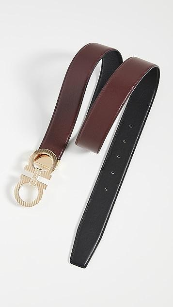 Salvatore Ferragamo Calfino Reversible Belt
