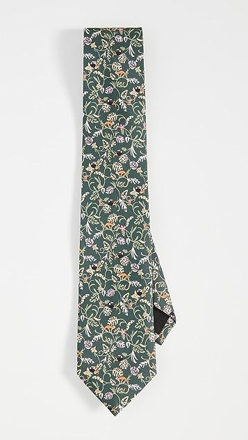 Salvatore Ferragamo Leaf Print Tie