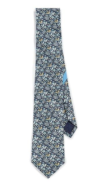 Salvatore Ferragamo Tiger Print Tie