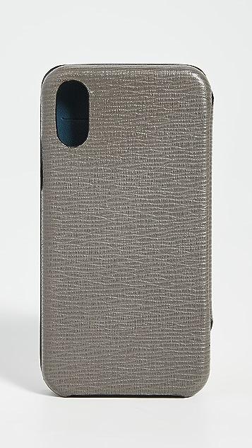 Salvatore Ferragamo Revival Gancio Leather iPhone XS Case
