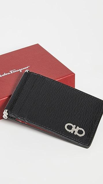 Salvatore Ferragamo Revival Gancio Card Holder