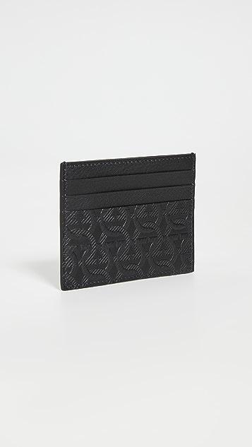 Salvatore Ferragamo Travel Embossed Leather Card Holder