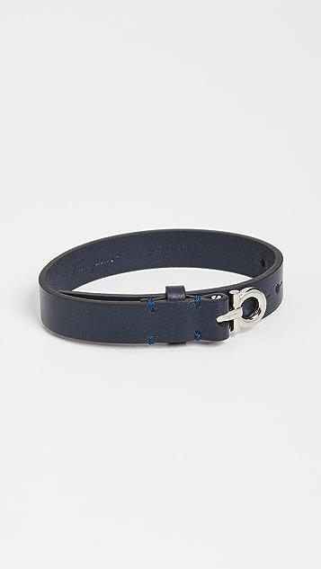 Salvatore Ferragamo Adjustable Leather Bracelet