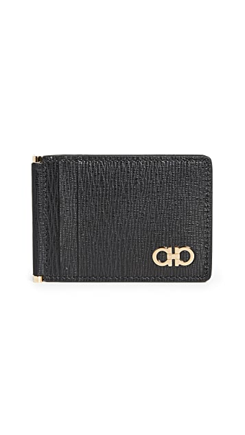 Salvatore Ferragamo Revival Gancio Card Holder