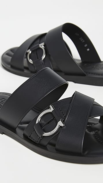 Salvatore Ferragamo Atina Leather Sandals