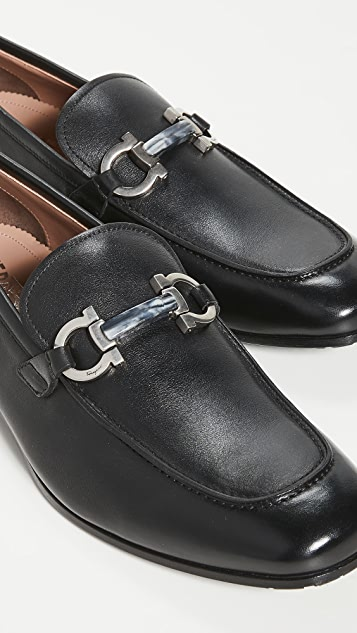 Salvatore Ferragamo Shepard Leather Loafers