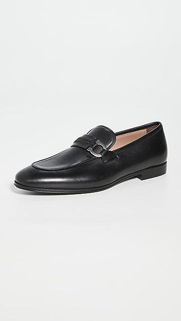 Salvatore Ferragamo Sidney Leather Loafers