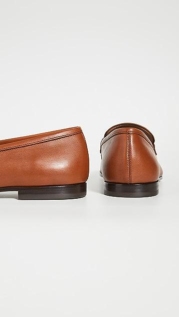 Salvatore Ferragamo Shepard Leather Loafers