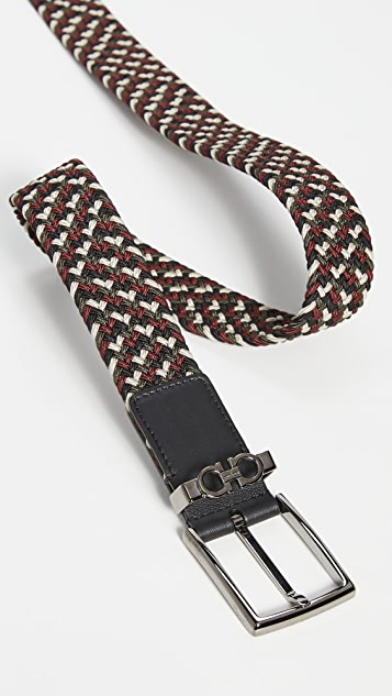 Salvatore Ferragamo Sized Braided Belt