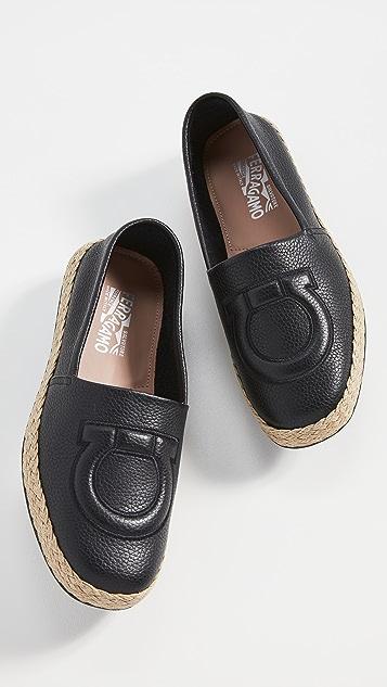 Salvatore Ferragamo Summer Leather Espadrilles
