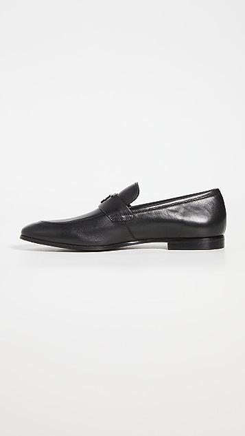 Salvatore Ferragamo Silas Leather Loafers
