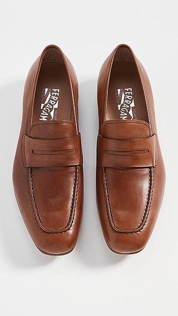 Salvatore Ferragamo Sunset Leather Loafers