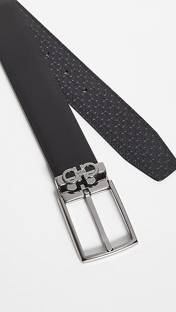 Salvatore Ferragamo Adjustable & Reversible Double Belt