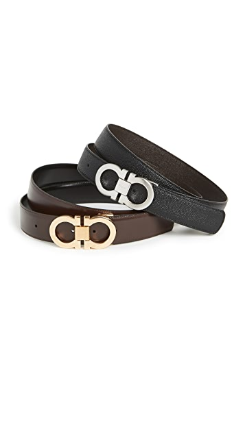 Salvatore Ferragamo Double Gancio Reversible Belt Box