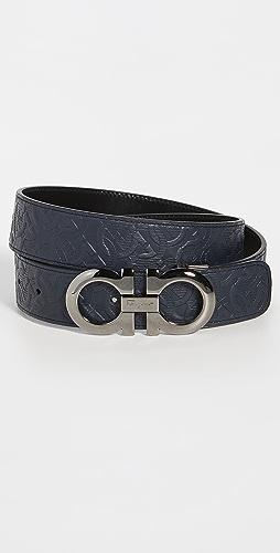 Salvatore Ferragamo - Silver Double Gancio Adjustable Belt
