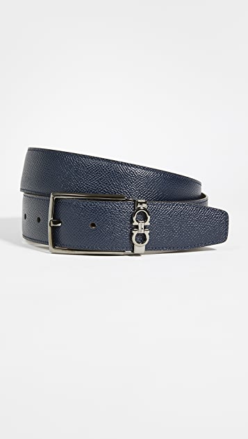Salvatore Ferragamo Gancio Square Buckle Reversible Belt