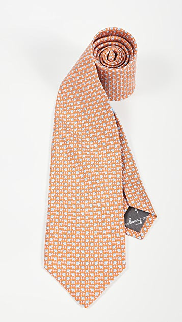 Salvatore Ferragamo Simba Printed Tie
