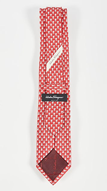 Salvatore Ferragamo Leo Printed Tie