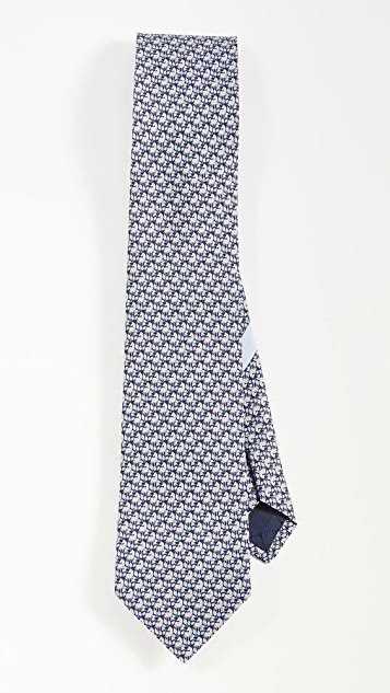 Salvatore Ferragamo Zebra Printed Tie