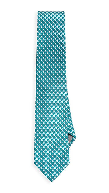 Salvatore Ferragamo Elephant Printed Tie