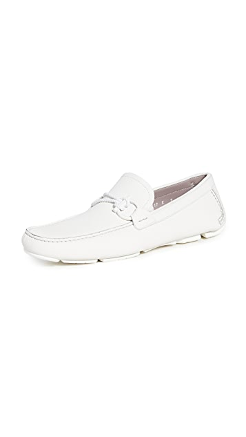 Salvatore Ferragamo Front 4 Ornamented Driver Loafers