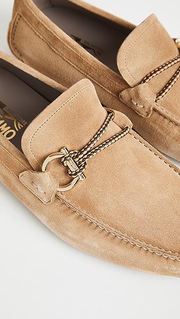 Salvatore Ferragamo Front 4 Ornamented Driver Loafers
