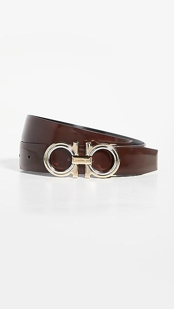 Salvatore Ferragamo Classic Signature Double Adjustable Belt