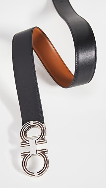 Salvatore Ferragamo Classic Signature Double Adjustable Belt