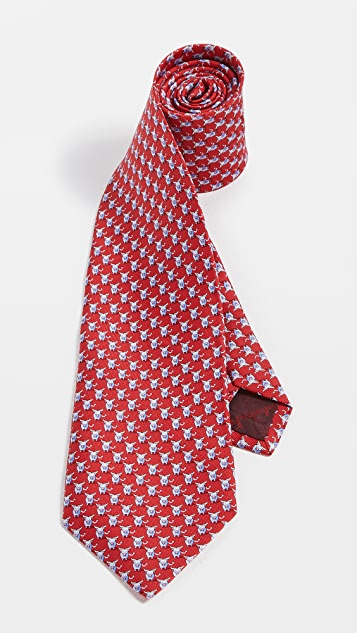 Salvatore Ferragamo Bull Print Tie