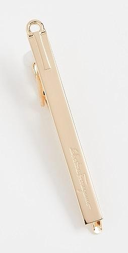Salvatore Ferragamo - Logo Engraved Tie Clip