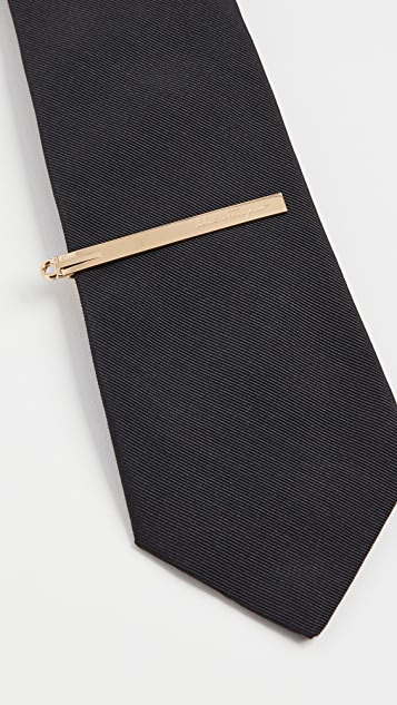 Salvatore Ferragamo Logo Engraved Tie Clip