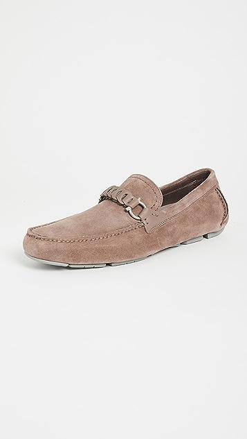 Salvatore Ferragamo Tubolare Suede Driver Shoes