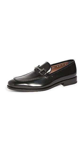 Salvatore Ferragamo Seattle Gancini Bit Leather Loafers