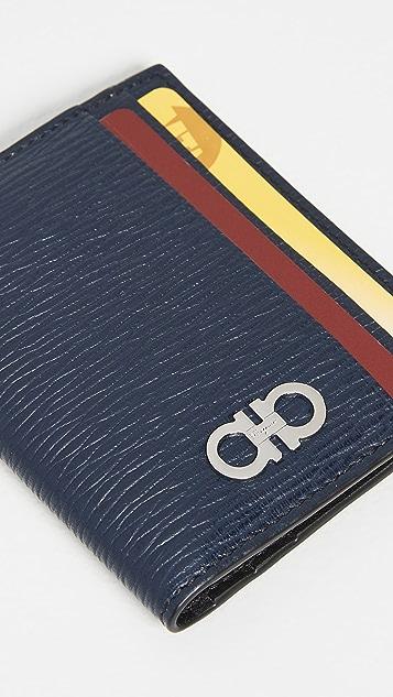 Salvatore Ferragamo Revival Gancio Bicolor Wallet
