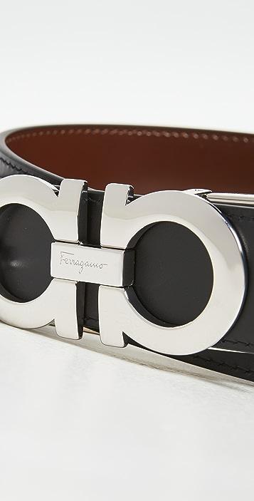 Salvatore Ferragamo Reversible Key Focus Belt